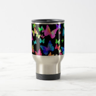 Psychedelic Butterflies Travel Mug