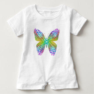 Psychedelic butterfly. baby bodysuit