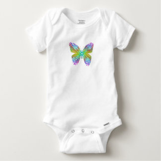 Psychedelic butterfly. baby onesie