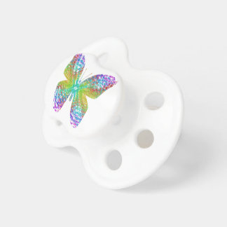 Psychedelic butterfly. baby pacifiers