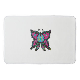 PSYCHEDELIC BUTTERFLY BATH MAT