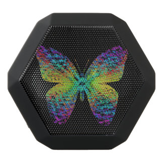 Psychedelic butterfly. black bluetooth speaker