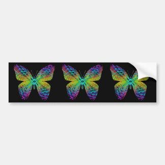Psychedelic butterfly. bumper sticker