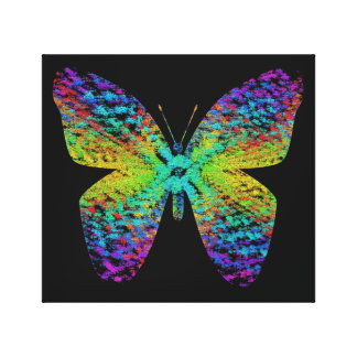 Psychedelic butterfly. canvas print