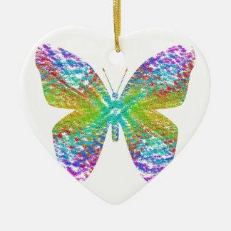 Psychedelic butterfly. christmas ornament