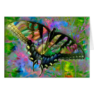 [Psychedelic Butterfly] Colourful [Blank Inside] Card