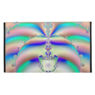 Psychedelic Butterfly Fractal Art iPad Folio Covers