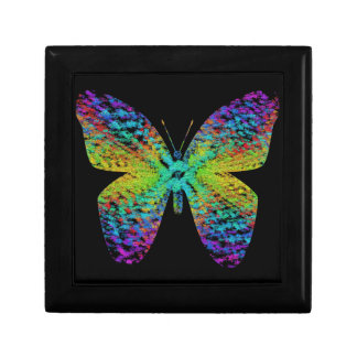 Psychedelic butterfly. gift box