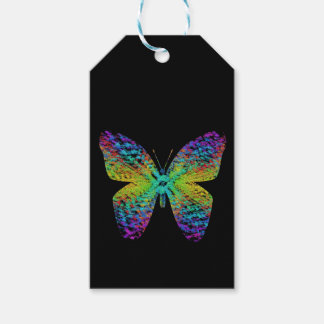 Psychedelic butterfly. gift tags