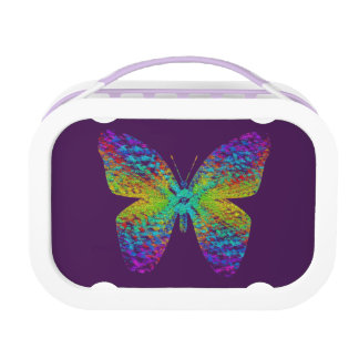 Psychedelic butterfly. lunchboxes