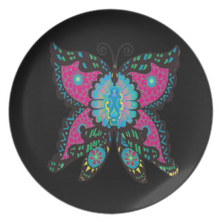 PSYCHEDELIC BUTTERFLY PLATE