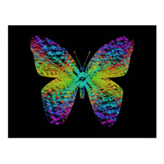Psychedelic butterfly. postcard
