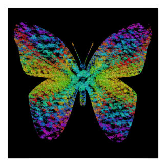 Psychedelic butterfly. poster