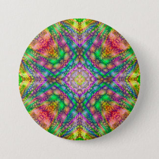 Psychedelic  Buttons, square or round 7.5 Cm Round Badge