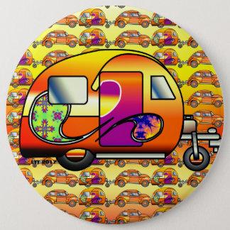 Psychedelic Caravan 6 Cm Round Badge