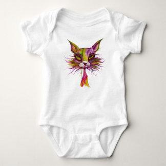 Psychedelic Cat Baby Bodysuit
