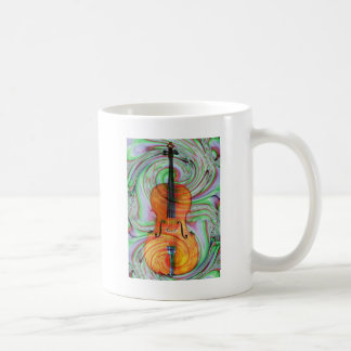 Psychedelic Cello Coffee Mug