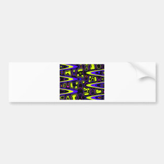 psychedelic cells yellow blue bumper stickers