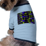 psychedelic cells yellow blue dog shirt