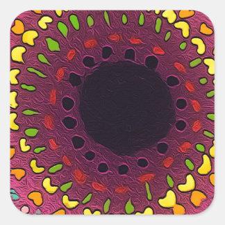 Psychedelic Chakras Square Sticker