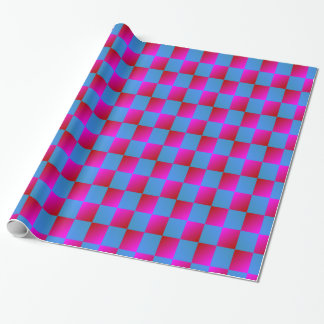 Psychedelic Checkers Pattern Wrapping Paper