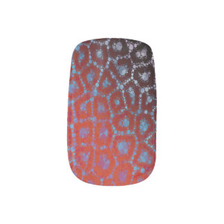 Psychedelic Cheetah Abstract Pattern Minx Nail Art