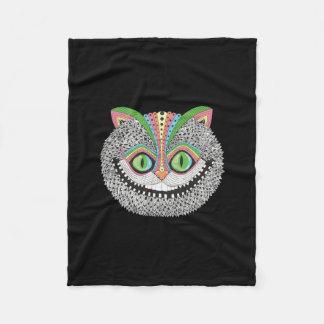 Psychedelic Cheshire Cat Fleece Blanket