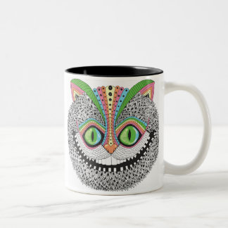 Psychedelic Cheshire Cat Two-Tone Coffee Mug