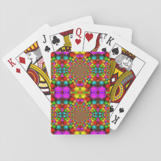 Psychedelic Christmas Ornaments Playing Cards