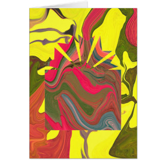 psychedelic christmas with funny message greeting card