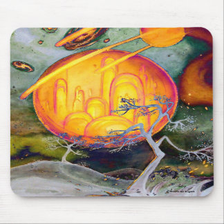 Psychedelic City Mouse Pads