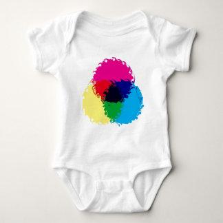 Psychedelic CMYK Baby Bodysuit