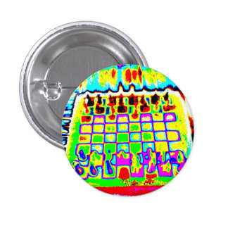 psychedelic color chessboard pin