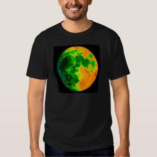 psychedelic color moon tshirts