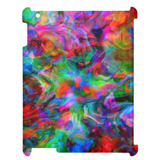 Psychedelic Color Swirl Case For The iPad