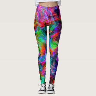 Psychedelic Color Swirl Leggings