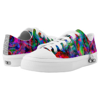 Psychedelic Color Swirl Low Tops