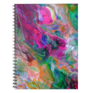 Psychedelic Color Swirl Notebook