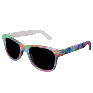 Psychedelic Color Swirl Sunglasses
