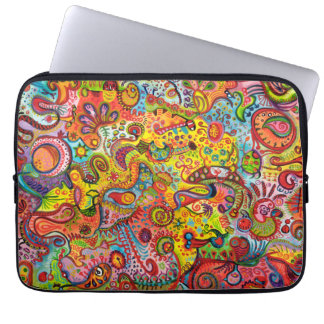 Psychedelic Colorful Abstract Laptop Sleeve