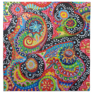 Psychedelic Colorful Abstract Napkin Set