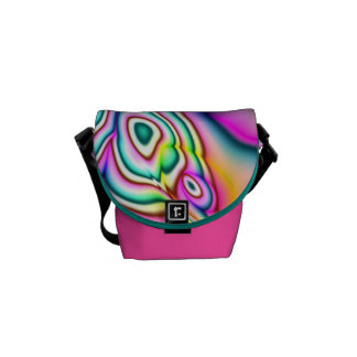 Psychedelic Colors Abstract Mini Messenger bag