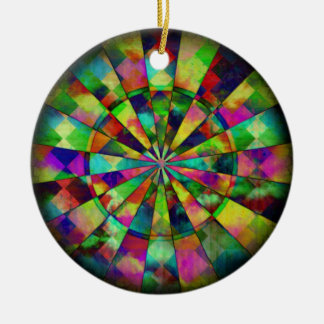 Psychedelic colors by Valxart.com Christmas Ornament