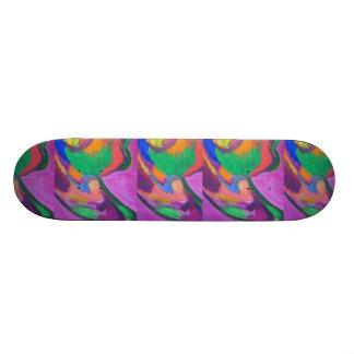 Psychedelic Colors Custom Skateboard