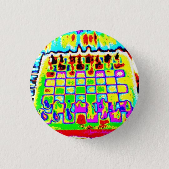 psychedelic colour chessboard pin