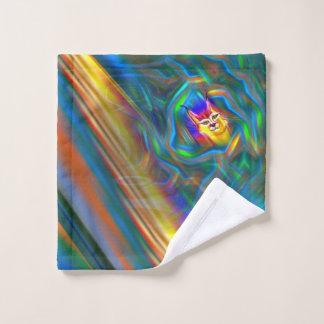 Psychedelic Colour Flow Lynx Portrait Bath Towel Set