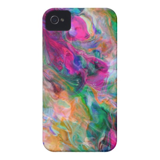 Psychedelic Colour Swirl iPhone 4 Case