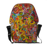 Psychedelic Colourful Abstract Messenger Bag