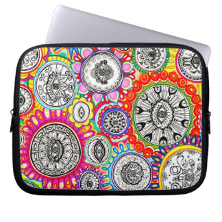Psychedelic Colourful Cosmic Laptop Sleeve