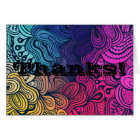 Psychedelic Colourful Loops Thank You Card